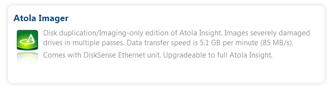 New product - Atola Imager