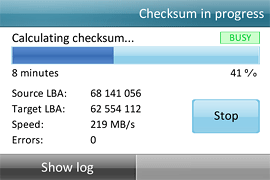 Checksum calculation in progress