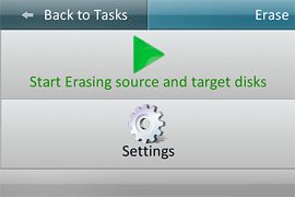 Start erasing 2 disks with Bandura