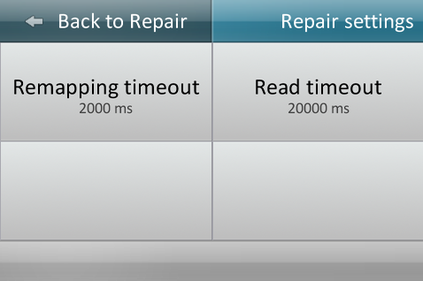 Timeout settings for Repair