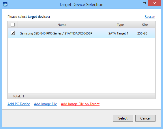 Image File on Target 1
