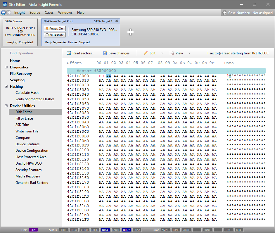 Change one byte in Disk Editor