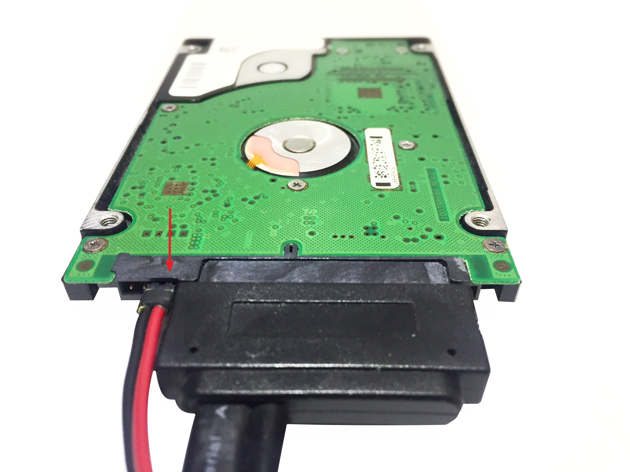 seagate sata 2.5 connected
